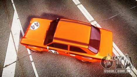 Ford Escort RS1600 PJ44 para GTA 4 vista direita