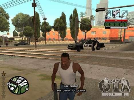 Confortável C-HUD para GTA San Andreas segunda tela