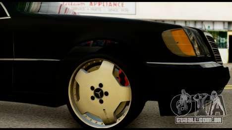 Mercedes-Benz W140 para GTA San Andreas vista direita