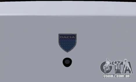 Dacia Logan Taxi para GTA San Andreas vista superior