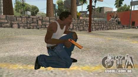Orange Desert Eagle para GTA San Andreas por diante tela