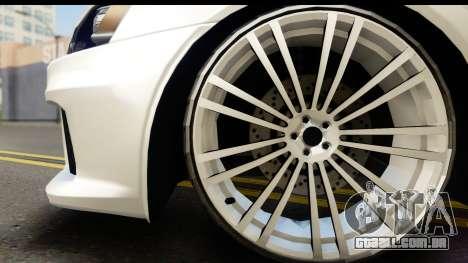 Mitsubishi Lancer X RE-Racing Edition para GTA San Andreas vista direita