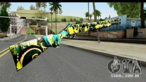 Grafiti Shotgun para GTA San Andreas segunda tela
