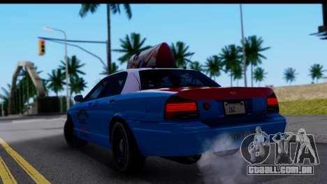 Taxi Vapid Stanier II from GTA 4 para GTA San Andreas esquerda vista