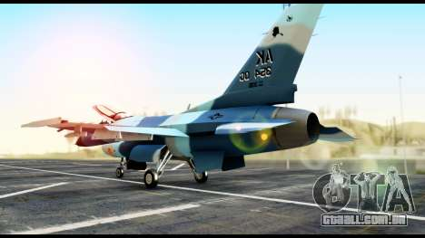 F-16 Aggressor Alaska para GTA San Andreas esquerda vista