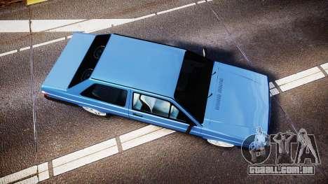 Volkswagen Voyage 1990 para GTA 4 vista direita
