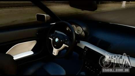 BMW M3 E46 para GTA San Andreas vista traseira