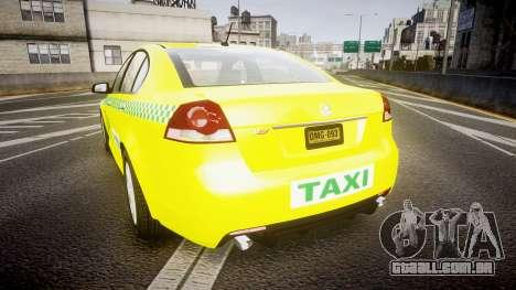 Holden Commodore Omega Series II Taxi v3.0 para GTA 4 traseira esquerda vista