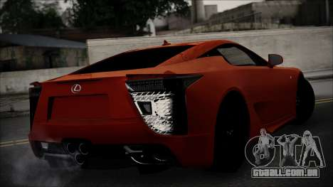 Lexus LFA para GTA San Andreas esquerda vista