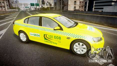 Holden Commodore Omega Series II Taxi v3.0 para GTA 4 esquerda vista