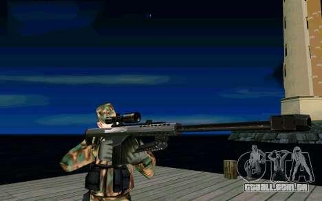 Barret M107 para GTA San Andreas segunda tela