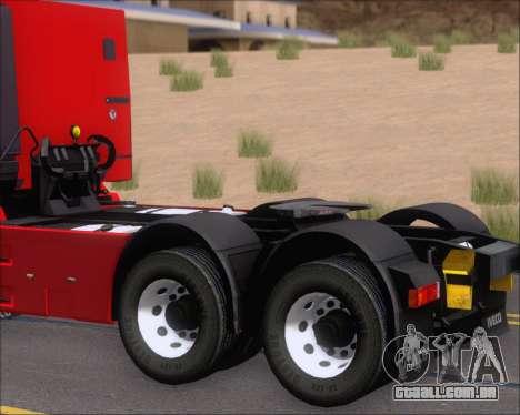 Iveco Stralis HiWay 6x4 para GTA San Andreas vista interior