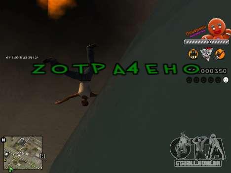 C-HUD Cookie para GTA San Andreas por diante tela