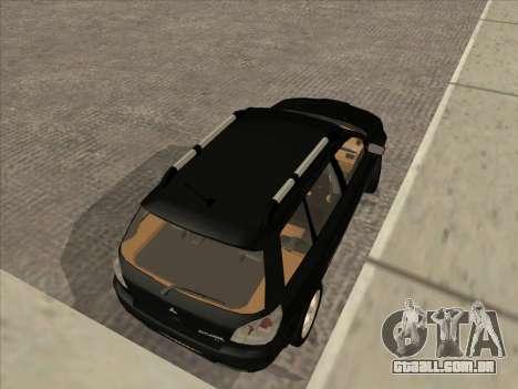 Mitsubishi Outlander para GTA San Andreas esquerda vista