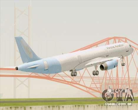 Airbus A321-200 Vorona Aviation para GTA San Andreas vista traseira