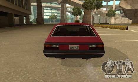 FSO Polonez 1500 para GTA San Andreas vista traseira