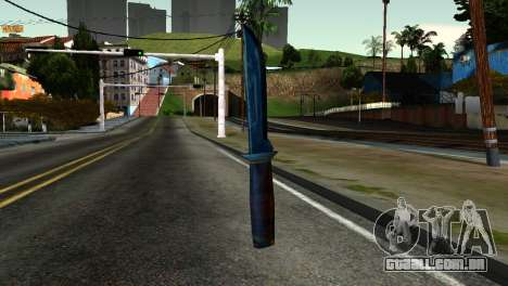 Knife from Kuma War para GTA San Andreas segunda tela