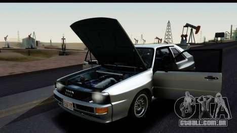Audi Sport Quattro B2 (Typ 85Q) 1983 [HQLM] para GTA San Andreas vista direita