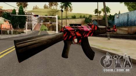 Red Tiger AK47 para GTA San Andreas segunda tela