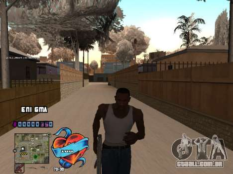 C-HUD Coração para GTA San Andreas quinto tela