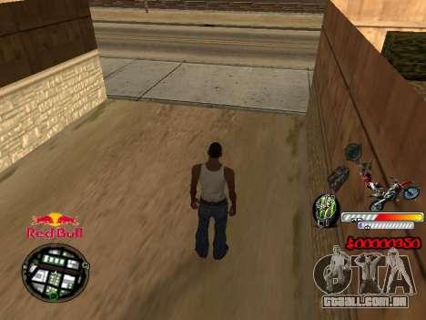 С-HUD RedBull para GTA San Andreas segunda tela