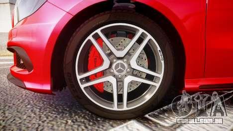 Mersedes-Benz A45 AMG para GTA 4 vista de volta