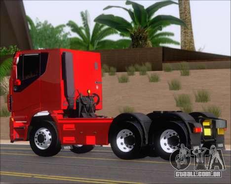 Iveco Stralis HiWay 6x4 para GTA San Andreas traseira esquerda vista