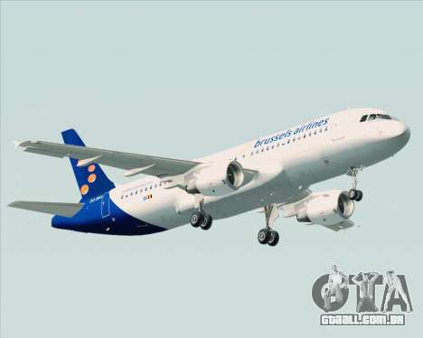 Airbus A320-200 Brussels Airlines para GTA San Andreas vista traseira