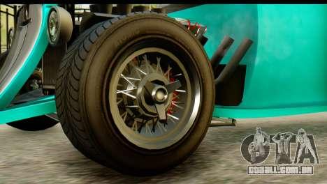 GTA 5 Hotknife GT para GTA San Andreas traseira esquerda vista