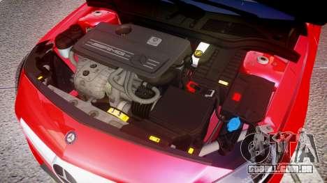 Mersedes-Benz A45 AMG para GTA 4 vista interior