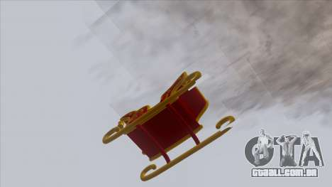 Santa Claus Sleigh para GTA San Andreas traseira esquerda vista