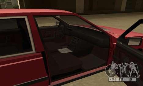 FSO Polonez 1500 para GTA San Andreas vista superior