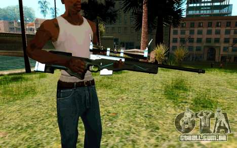 Blue Line Sniper para GTA San Andreas segunda tela