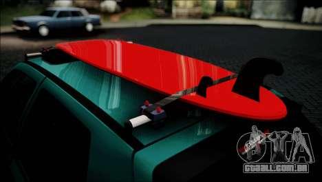 Volkswagen Golf Mk3 Hawaii Style para GTA San Andreas vista traseira