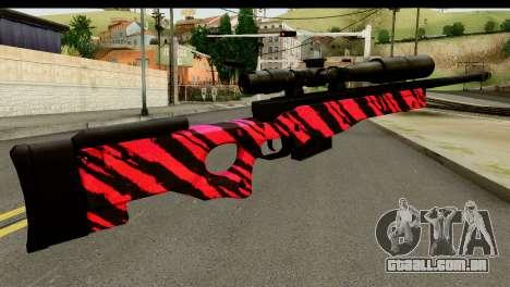 Red Tiger Sniper Rifle para GTA San Andreas segunda tela