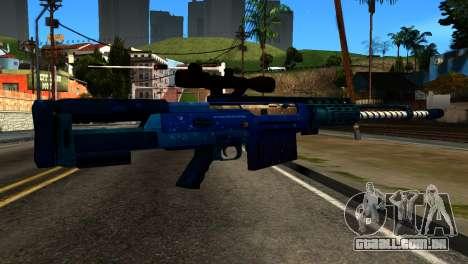 New Year Sniper Rifle para GTA San Andreas segunda tela