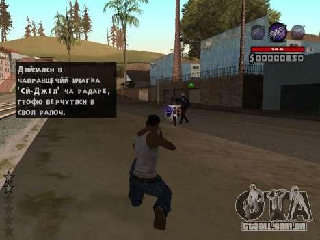C-HUD by Granto para GTA San Andreas segunda tela