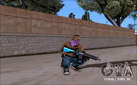 Blueline Gun Pack para GTA San Andreas por diante tela