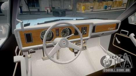 Ford Fairmont 1978 Police v1.1 para GTA 4 vista de volta