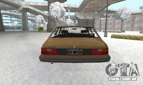 Renault 18 para GTA San Andreas vista traseira