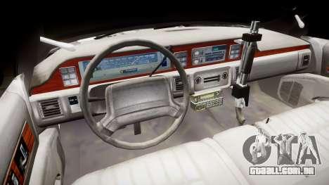 Chevrolet Caprice 1990 LCPD [ELS] Patrol para GTA 4 vista de volta