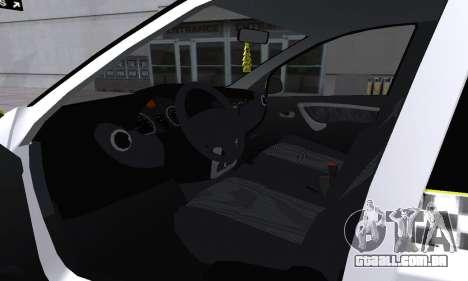 Dacia Logan Taxi para o motor de GTA San Andreas