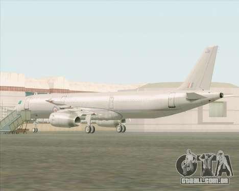 Airbus A321-200 Royal New Zealand Air Force para GTA San Andreas traseira esquerda vista