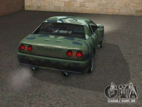 Elegy GTR para GTA San Andreas traseira esquerda vista