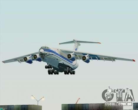 IL-76TD Gazprom Avia para GTA San Andreas vista traseira