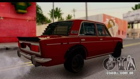 VAZ 2106 BQ para GTA San Andreas traseira esquerda vista