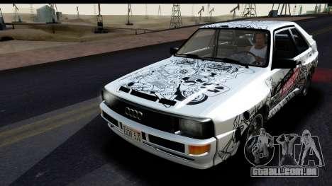 Audi Sport Quattro B2 (Typ 85Q) 1983 [HQLM] para GTA San Andreas vista superior