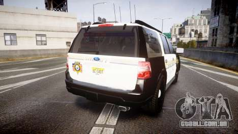 Ford Expedition 2010 Sheriff [ELS] para GTA 4 traseira esquerda vista