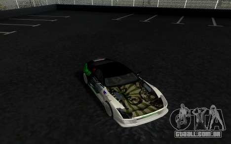 Toyota Supra VCDT para GTA San Andreas traseira esquerda vista