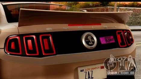 Ford Shelby GT500 RocketBunny para GTA San Andreas traseira esquerda vista